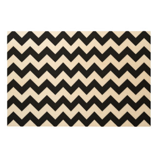 Black and White Zigzag Wood Wall Decor