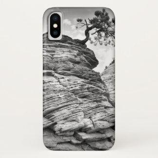 Black and White Zion Art Bonsai Tree iPhone X Case