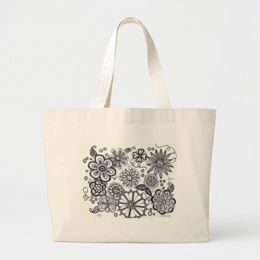 Black and Whte Fantasy.jpg Canvas Bags
