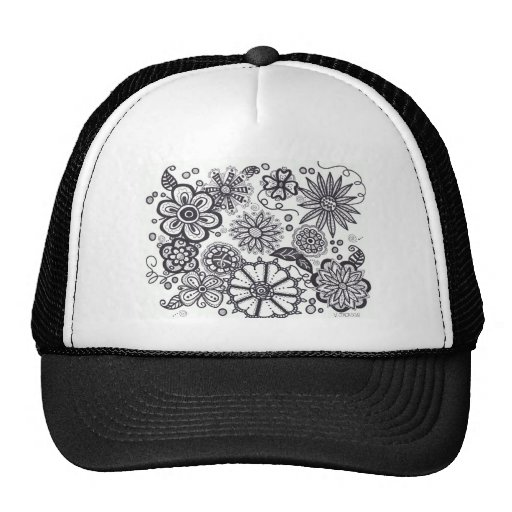 Black and Whte Fantasy.jpg Trucker Hats