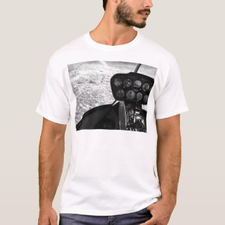 Black and wihte photograph of a helicopter T-Shirt