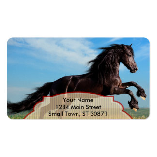 black and wild Stallion Rearing Horse Pack Of Standard Business Cards