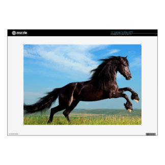 black and wild Stallion Rearing Horse Laptop Decals