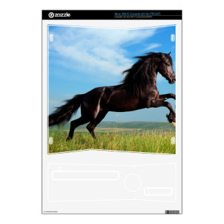 black and wild Stallion Rearing Horse Xbox 360 S Decals