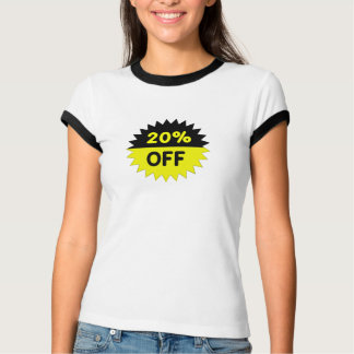 Black and Yellow 20 Percent Off T-shirts