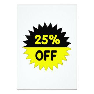 Black and Yellow 25 Percent Off Custom Invitation