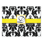 "Black and Yellow Baroque RSVP Cards 4.25"" X 5.5"" Invitation Card"