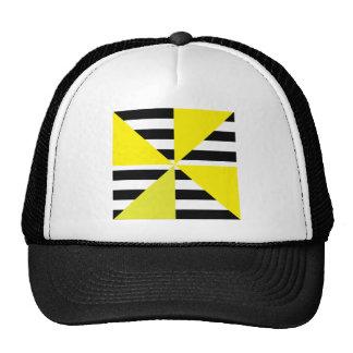 Black and Yellow Bars & Triangles Designs! Gorros Bordados