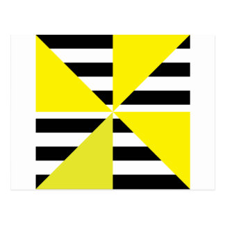 Black and Yellow Bars & Triangles Designs! Tarjeta Postal