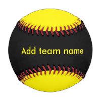 Black and Yellow Baseball
