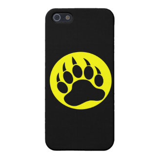 Black and Yellow Bear Paw Cover For iPhone SE/5/5s