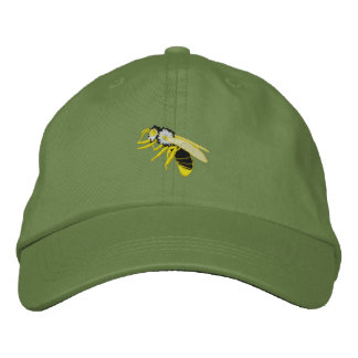 Black and yellow bee wasp embroidered men's hat