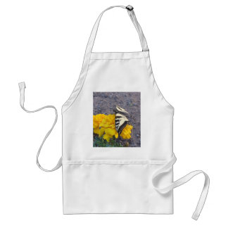 Black and Yellow Butterfly Adult Apron
