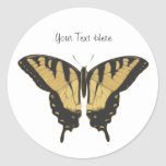 Black and Yellow Butterfly Stickers
