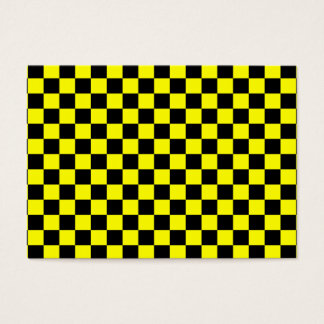 Black and Yellow Checkerboard Pattern Business Card