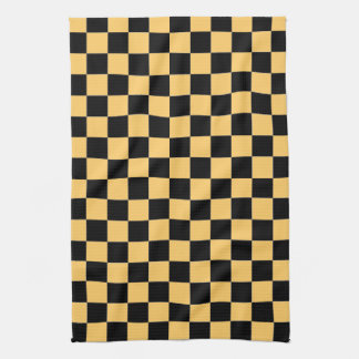 Black and Yellow Checkered Kitchen Towel