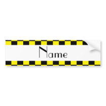 Black and yellow checkered pattern bumper sticker