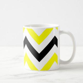 Black And Yellow Chevron Coffee Mug