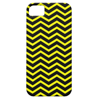 Black and Yellow Chevron ZigZag Pattern iPhone 5 Cases