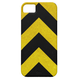 black and yellow construction hazard iPhone 5 cases