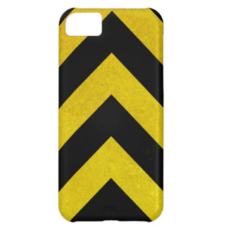 black and yellow construction hazard cover for iPhone 5C