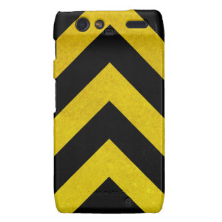 black and yellow construction hazard droid RAZR cases