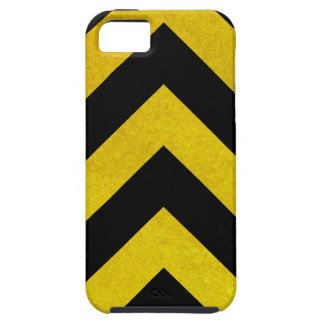 black and yellow construction hazard iPhone 5 cover