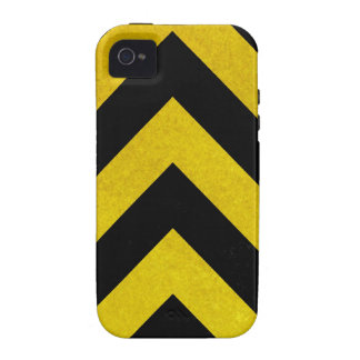 black and yellow construction hazard vibe iPhone 4 cases