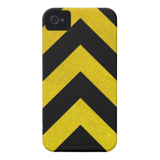 black and yellow construction hazard iPhone 4 Case-Mate cases
