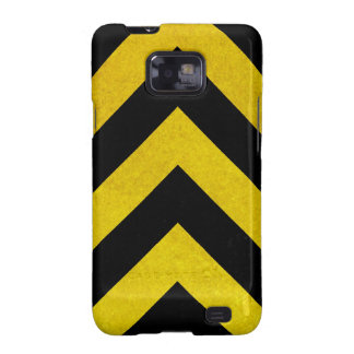 black and yellow construction hazard galaxy s2 cover