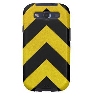black and yellow construction hazard galaxy s3 case