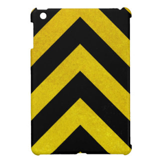 black and yellow construction hazard case for the iPad mini