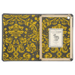 Black and Yellow Damask Cover For iPad Air