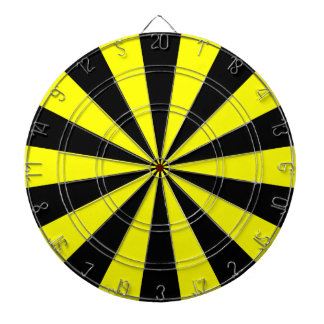 Black and Yellow Dart Board