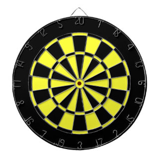 Black and Yellow Dartboard