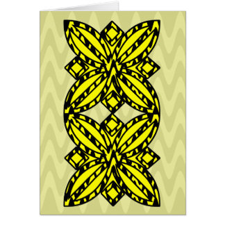 Black and Yellow Floral Card