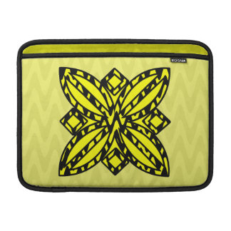 Black and Yellow Floral MacBook Air Sleeve
