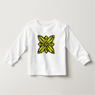 Black and Yellow Floral Toddler T-shirt