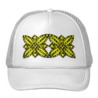 Black and Yellow Floral Trucker Hat