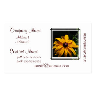 Black and Yellow Flower Business Cards