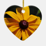 Black and Yellow Flower Ornament