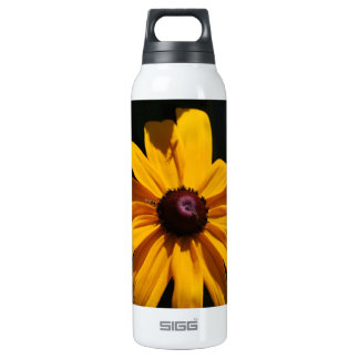 Black and Yellow Flower 16 Oz Insulated SIGG Thermos Water Bottle