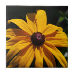 Black and Yellow Flower Tile