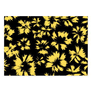 Black and Yellow Flowers. Large Business Cards (Pack Of 100)