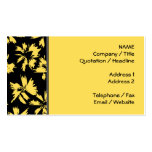 Black and Yellow Flowers. Business Card Template