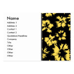 Black and Yellow Flowers. Business Cards