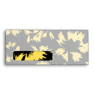 Black and Yellow Flowers Envelope