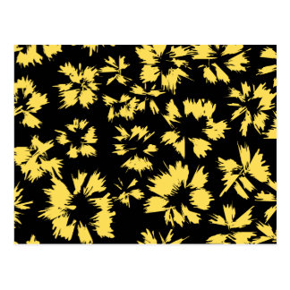 Black and Yellow Flowers. Postcard