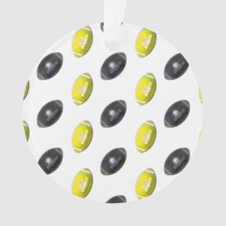 Black and Yellow Football Pattern