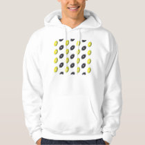 Black and Yellow Football Pattern Hoodie